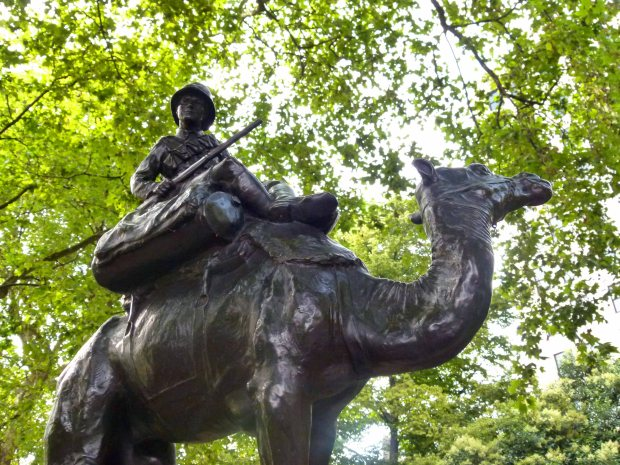 The Imperial Camel Corps Memorial, Victoria Embankment Gardens