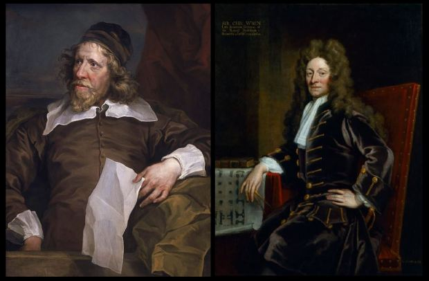Inigo Jones and Christopher Wren, two great architects associated with St Alban's, Wood Street