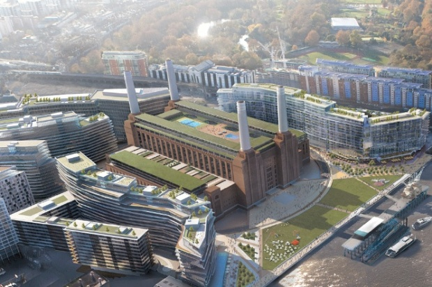A vision of Battersea Power Station...chock full of unaffordable flats.