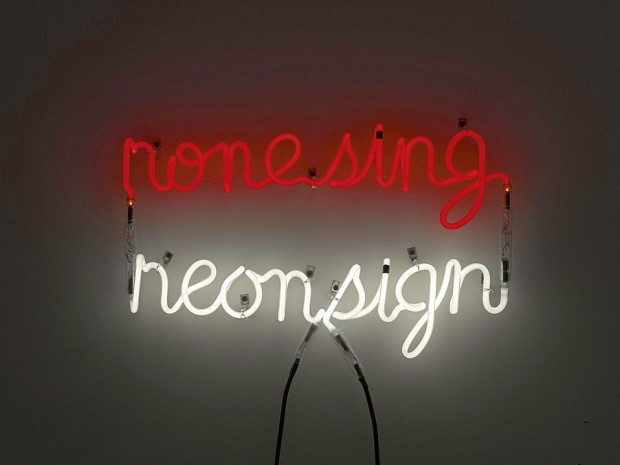 Neon sign by Bruce Nauman, 1970 (image: Guggenheim Collection)