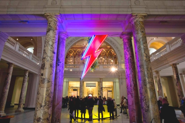 Chris Bracey's 'Ziggy Stardust' bolt at the V&A (image: The Mirror)