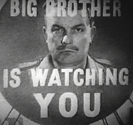 'Big Brother is Watching You'- still from the 1954 drama.