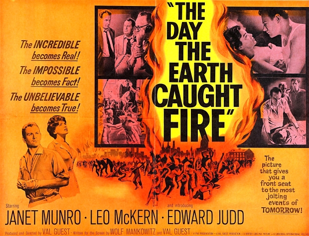 Original poster for 'The Day the Earth Caught Fire'.