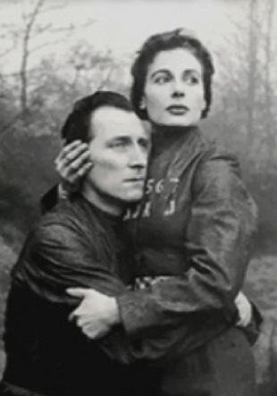 Winston Smith (Peter Cushing) and Julia (Yvonne Mitchell) in Nineteen Eighty-Four.