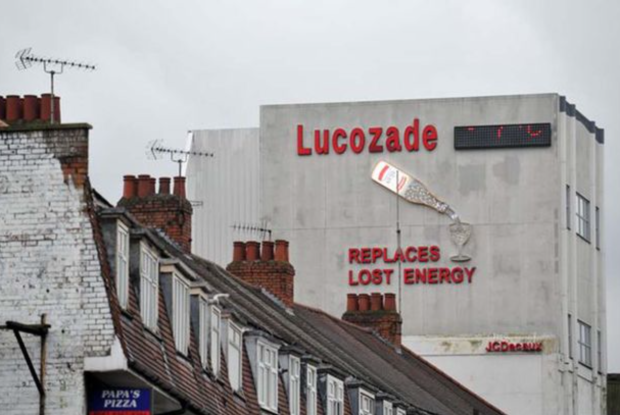 The Lucozade sign (image: The Mirror)