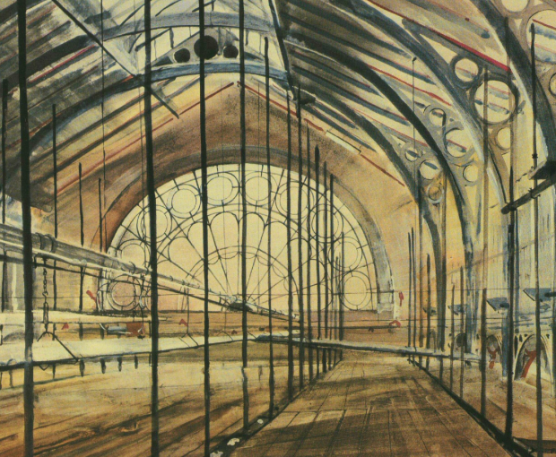 Artist's impression of the Covent Garden market hall during its conversion into the London Transport Museum in 1980 (image: London Illustrated News)