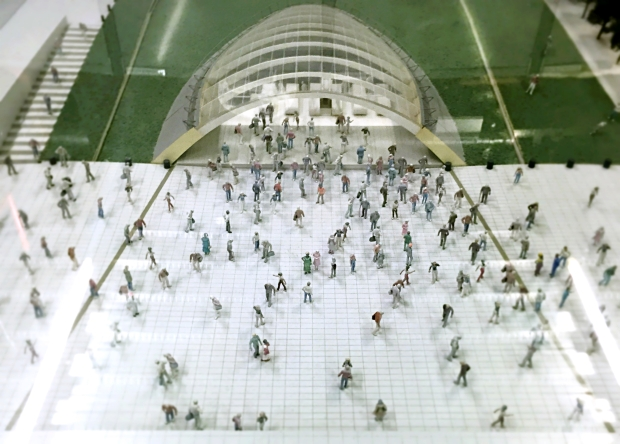 Architect's model of Canary Wharf, 1990s