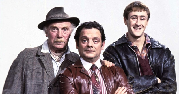 British Actors Lennard Pearce; David Jason And Nicholas Lyndhurst Stars of the BBC TV comedy series 'Only Fools and Horses'. (Photo by Photoshot/Getty Images)