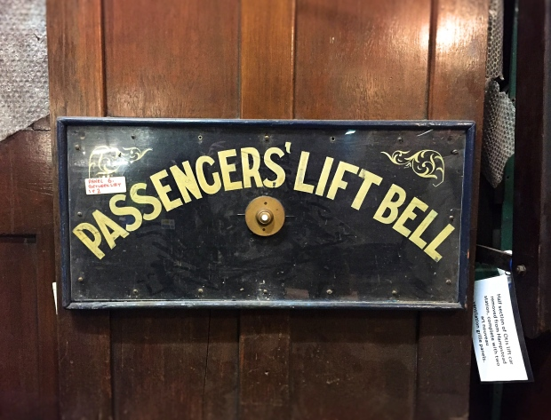 Passenger bell from Hampstead tube station's original lift