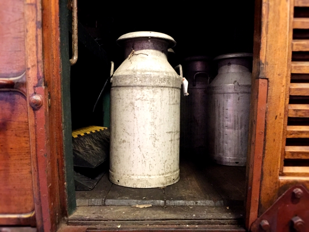Milk churn used on the Metropolitan line