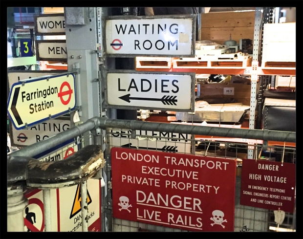A small corner of the depot's signage section