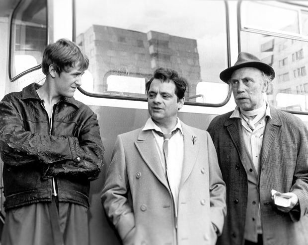 Rodney, Del Boy and Grandad in 'A Slow Bus to Chingford', 1981