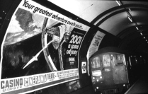 Tube poster advertising '2001 a Space Odyssey', 1968... see A Monolith in St Katharine Docks