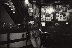 Artist, Francis Bacon drinking in The French House, Soho... see Disturbing Daubs: Francis Bacon's London (image: The Guardian)