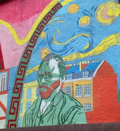 Mural of Vincent Van Gogh, Stockwell... see Van Gogh's London